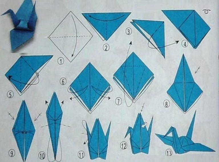 Птички из бумаги своими руками оригами 70