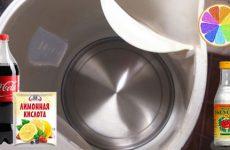 Как очистить чайник от накипи уксусом, лимонной кислотой и Кока-Колой, а также почему она образуется?