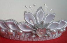 Корона для девочки из бумаги, картона, листьев и мастики своими руками на праздник