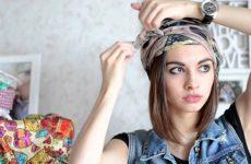 Как красиво и стильно завязывать шарф на голову: разные способы