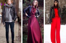 С чем лучше носить косуху женщине