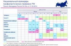 График прививок для детей до 1 года: таблица по месяцам