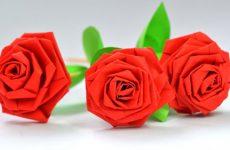 Простые способы сделать розу из бумаги