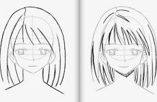Рисование поэтапно персонажа аниме карандашом для начинающих