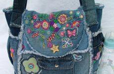 Как сшить сумку из старых джинсов своими руками?